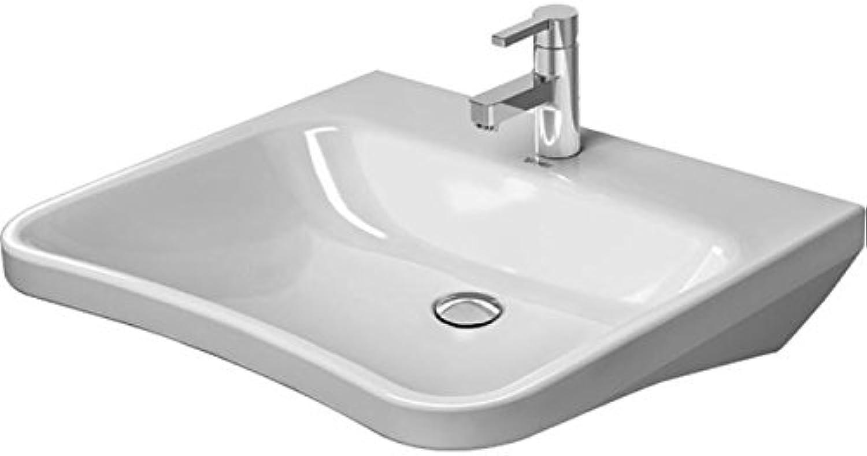 Duravit Waschtisch DuraStyle Vital Med 650 mm ohne überlauf, ohne Hahnloch, wei WGL, 23306500701