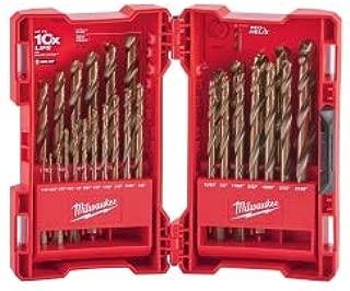29 Piece Cobalt Red Helix Drill Bit Set, new
