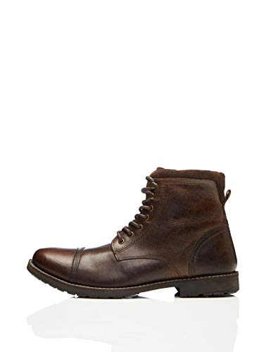 find. Max Herren Zip Worker Biker Boots, Brown (Dark Brown), 43 EU