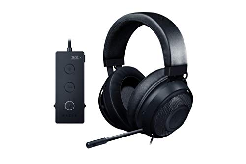 Razer Kraken Tournament Edition, Cuffie da Gioco e-Sports Completamente Cablate con Controllo Audio Completo e THX Spacial Audio, Nero