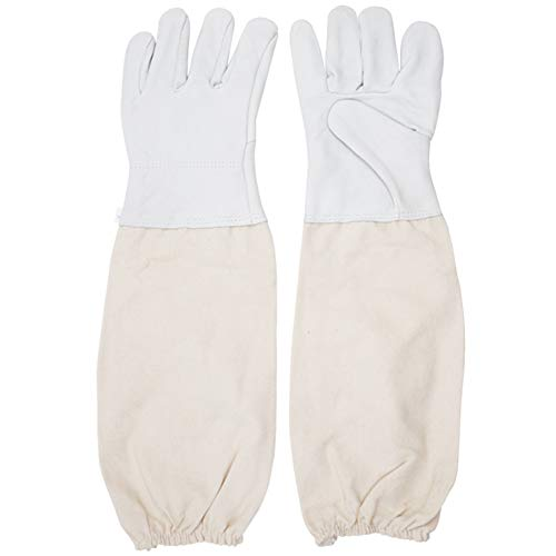 Imker Handschuhe ein Paar Sting Proof Ärmelbündchen belüftet Ärmel Universal Modell Imker Handschuhe Leder Bee Tools