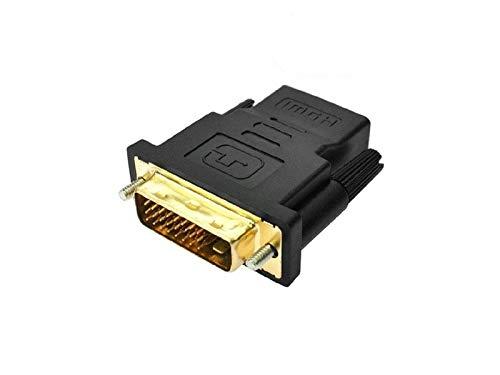 adaptare 20103 Adapter 24+1-poliger DVI-D-Stecker auf HDMI-Buchse vergoldet schwarz