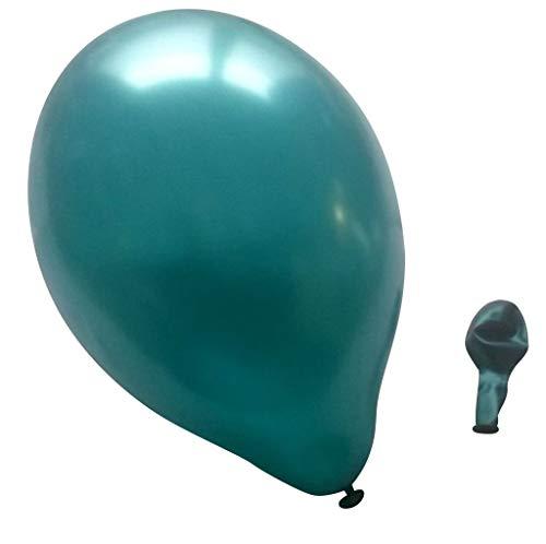 Belbal 50 Luftballons metallic türkis Premiumqualität Ø ca. 27cm B85 (Standardgröße)
