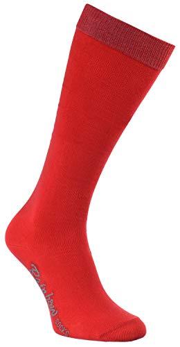 Rainbow Socks - Niño Niña Calcetines Largos Hasta la Rodilla - 1 Par - Rojo - Talla 30-35