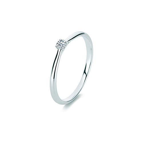 Diamond Group 1A287W4 Ring 4er-Krappe Brillant 0,10 ct 14 kt WG Gr. 56