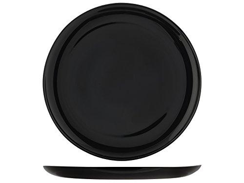 H&H Premiere Pizzateller-Set, opal, schwarz, 6 Einheiten