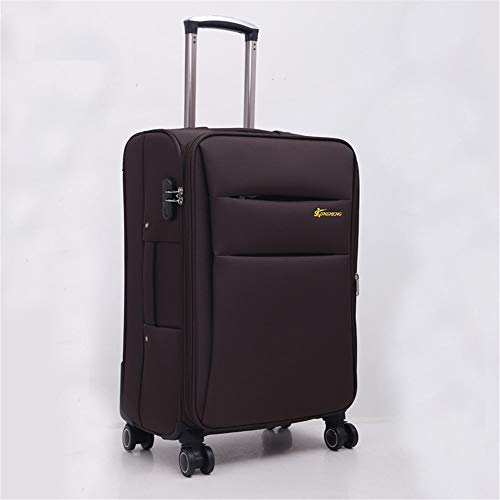 Zhengowen Equipaje Oxford Brake Bag Maleta Profesional Ruedita Herramienta Trolley Case Chasis Trolley Case 20-28 Inch Equipaje Maleta de Equipaje (Color : Marrón, tamaño : 24Inch)