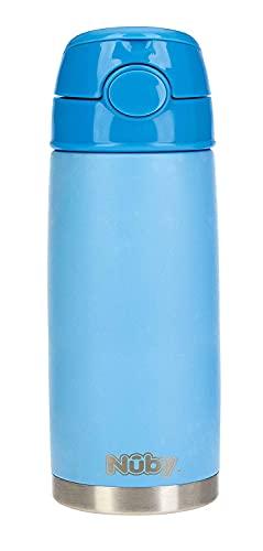 Nuby - Taza termica de acero inoxidable - 420ml - azul - 24m+