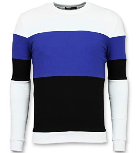 Sweater Heren - Online Streep Truien Kopen - Navy
