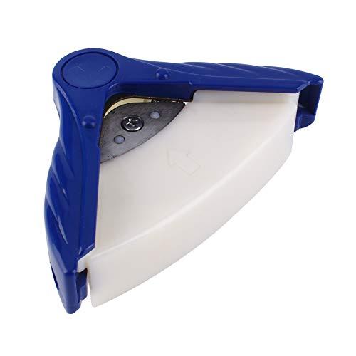 DERCLIVE Herramienta de Corte Fotográfico de Papel Perforado de Esquina Redonda Redondeada de Alta Calidad R10mm Azul