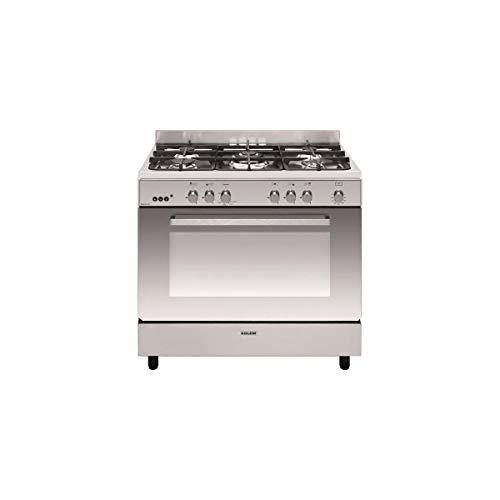 AIRLUX (GLEM PL) Cuisinière e-Cooker 90 x 60 cm INOX - Four gaz Catalyse 109 L - Gril électrique - Minuteur 60 Min - Allumage