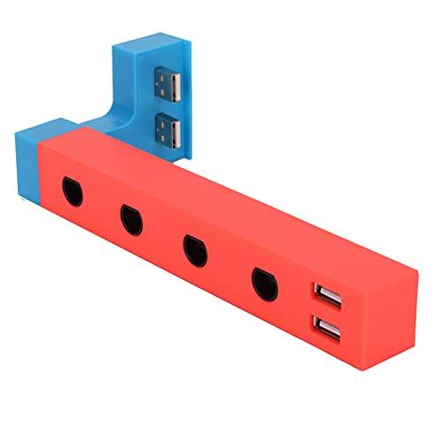 T opiky para Adaptador De Controlador Game Cube con 4 Puertos, Adaptador De Controlador con Cable con Interruptor De 2 Puertos USB para Plug and Play, No Se Necesitan Controladores