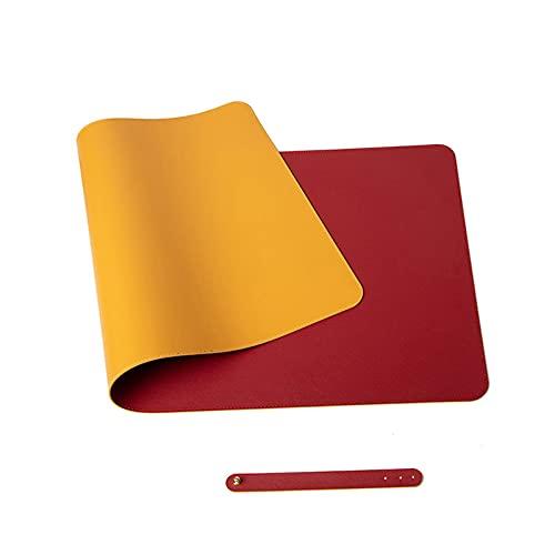 HANTURE Alfombrilla de escritorio de doble cara, 13.7 x 27.5 pulgadas, de piel sintética, grande, para teclado de ordenador, juegos, impermeable, protector de escritorio, para oficina