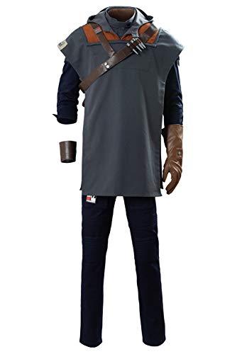 Bilicos Fallen Order Cal Kestis Outfit Traje de Cosplay Disfraz Hombres Caballeros XXL