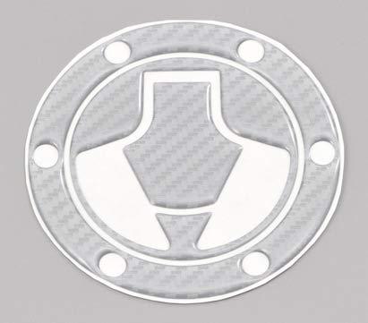 デイトナ バイク用 傷防止シール タンクキャップパッド ポッティングタイプ カワサキ1(Ninja250) シルバーカーボン調 15553
