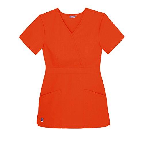 Medizinische Uniformen Frauen Top Krankenschwester Krankenhaus Berufskleidung S8302 Farbe: BRG | Größe: 3X - S8302 - Mandarin Orange - 2X