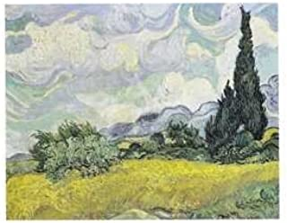 A Wheatfield With Cypresses by Vincent van Gogh, Art Print Poster 11