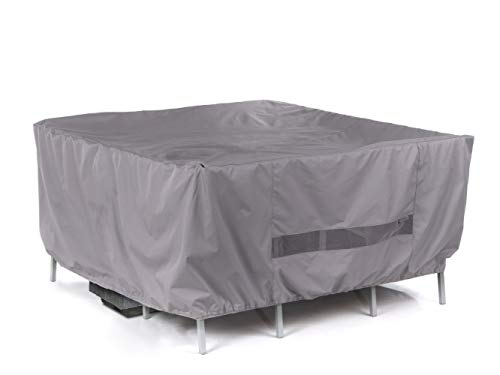 Covermates - Square Firepit/Chair Set Cover - 60W x 60D x 30H - Elite Collection - 3 YR Warranty - Year Around Protection - Charcoal