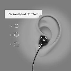 Panasonic ErgoFit In-Ear Earbud Headphones RP-HJE120-KA (Matte Black) Dynamic Crystal-Clear Sound, Ergonomic Comfort-Fit