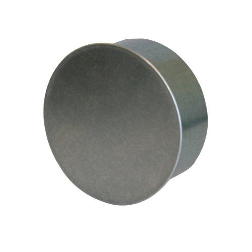 Kamino Flam Rohrkapsel aus verzinktem Stahl, feueraluminiert (FAL), Kaminverschluss mit Isolierung, Verschluss für alle gängigen Ofenrohre, Ofenlochdeckel für Rohre Ø 80 mm, Höhe: 48 mm