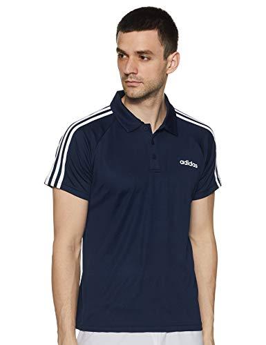 Adidas Men's Striped Regular fit Polo (FL5724_L_Collegiate Navy Large)
