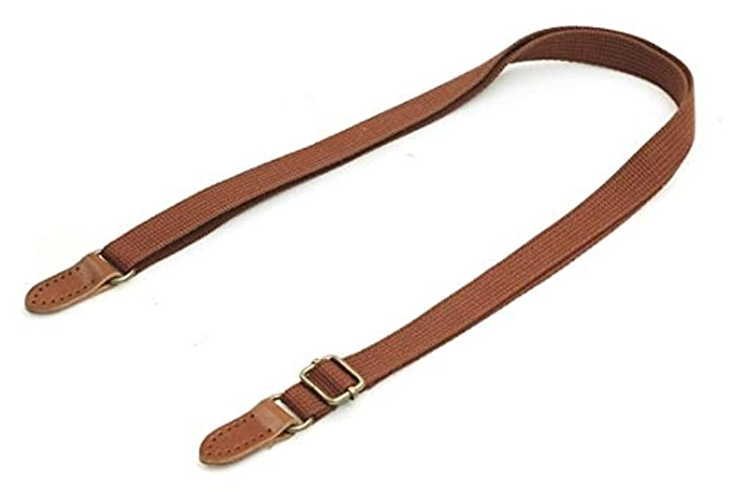 byhands Adjustable Webbing Crossbody Bag Strap with Genuine Leather Tab, 29.3