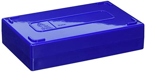 VWR 82003-418 Microscope Slide Boxes, 25-Place, 14 cm Length, 8.9 cm Width, 3.2 cm Height, Blue (Pack of 1)