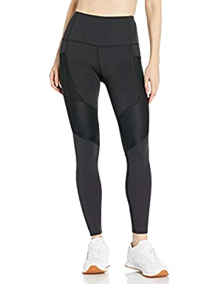 Body Glove Active Women's Saturn Performance FIT Activewear Legging Pant with Pintuck Detail, Black, Large