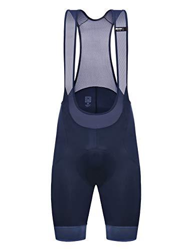 Santini Scatto - Culotte con Tirantes para Hombre, Scatto, Hombre, Color Azul Oscuro, tamaño Large