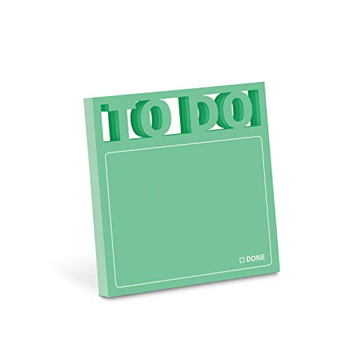 Knock Knock To Do Die Cut Sticky Notes, 3 x 3-Inches (1-Count)