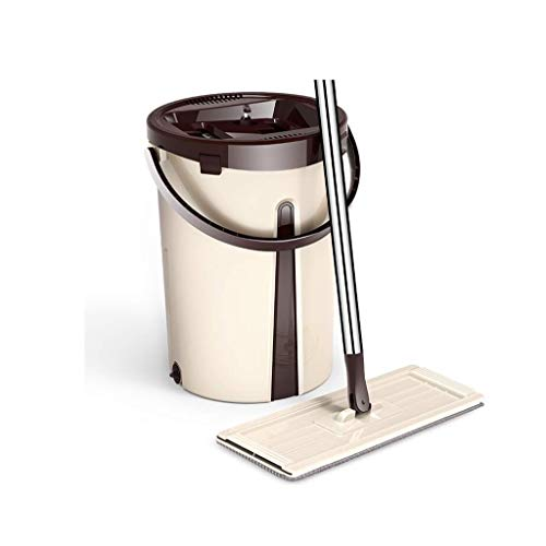 Mop, Lazy Mop Bucket Spinning Mop Bucket Manos Libres Flat Mop Home House Home Floor Cleaning