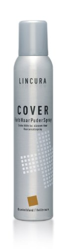 Lincura Haarverdichtungsspray - Cover Spray für optische Haarverdichtung bei Haarausfall dunkelblond/hellbraun