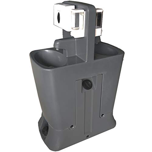 Expel Well Portable Handwashing Station | Portable Sink for Washing Hands - Small Outdoor Sink Station with Tank | Self Contained Portable Hand Washing Station with Foot Pump