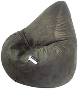 Altmark-Design Sitzsack XL Mikrofaser dunkel Grau/incl. Inlett