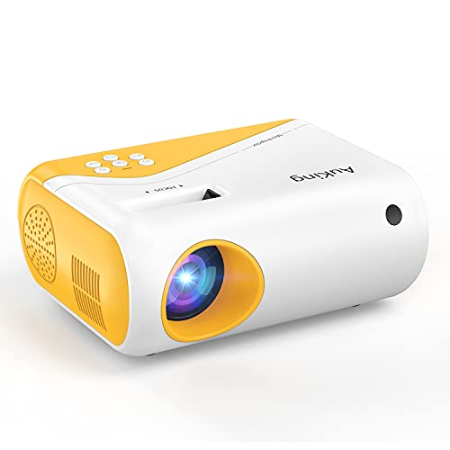 Mini Projector, AuKing 2021 Upgraded 1080P Supported Outdoor Projector, Projector for Outdoor Use Compatible with HDMI, USB, Laptop, iOS and AndroidPhone