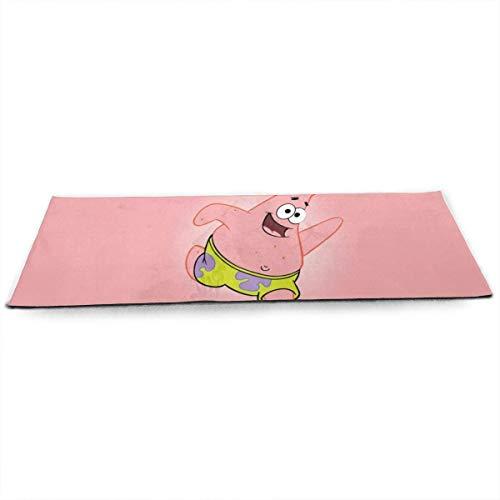 Spongebob Yogamatte 5 mm Dicke Matte, leicht, leicht zu tragen, rutschfest, leicht zu reinigen, hergestellt aus Kristallvlies. Während Ihres Trainings, Yoga Pilates Gute Balance und Stabilität