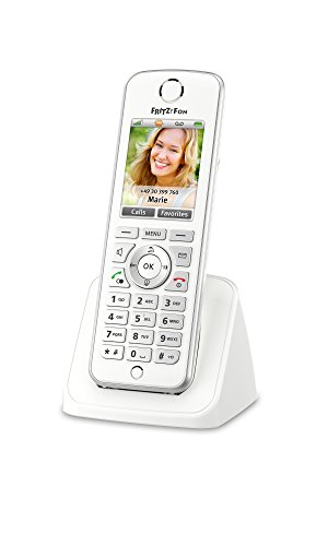 AVM FRITZ!Fon C4 International - Teléfono DECT, HD, pantalla a color, enviar y recibir mail, noticias RSS, podcasts, radio por Internet, compatible con FRITZ!Box con base DECT, menú en español
