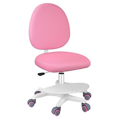 Kinder und Jugenddrehstuhl, ergonomischer Kinder Schreibtischstuhl, Junior Drehstuhl mit Fußpedal,...