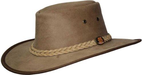 Barmah 1072 Red Rock Australischen Rindsleder Hut Cowhide Leather Hat M 57cm, Hickory