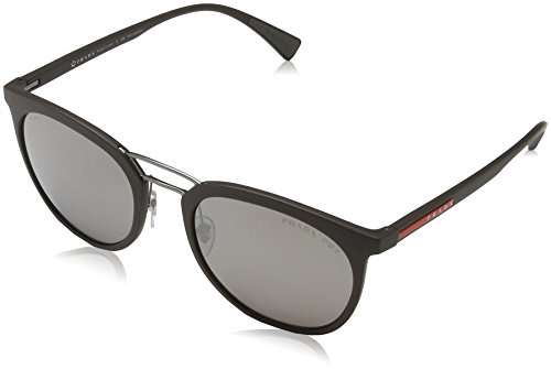Prada LINEA ROSSA 0PS 04SS Gafas de sol, Brown Rubber, 54...