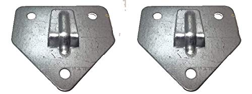 Grupo Cano Lopera | Pack 2 Soportes de Pared para Extintores de Polvo Seco, Agua o Espuma | de Forma Triangular con tres Agujeros de Sujeción | Hecho en Acero | Muy Resistente