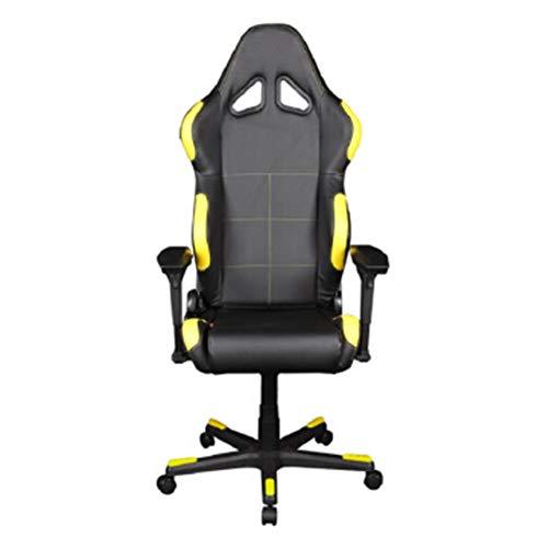 GLMAS Silla de oficina giratoria, silla de juegos para ordenador, silla de ordenador ergonómica para juegos para oficina, asiento giratorio negro, rojo y negro
