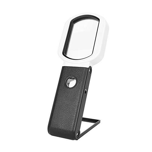 ZBXK Lupa 8X / 25X, Lupa Recargable de Mano/de pie con Lupa de luz LED 9 para inspección de Lectura Costuras de Punto de Cruz