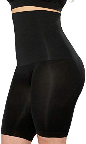 High Waisted Body Shaper Shorts Shapewear for Women Tummy Control Small to Plus Size Black Large product image