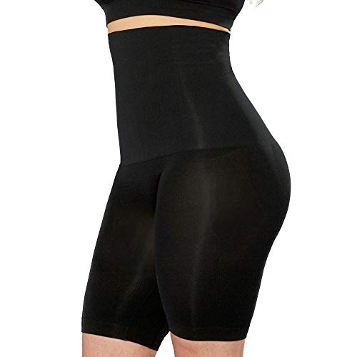 Shapermint High Waisted Body Shaper Shorts - Shapewear for Women Tummy Control Small to Plus-Size Black X-Large / XX-Large