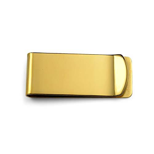 Bling Jewelry Personalisierte Basic Geld Clip Für Herren Schlicht Kreditkarte Vergoldet Edelstahl Custom Graviert
