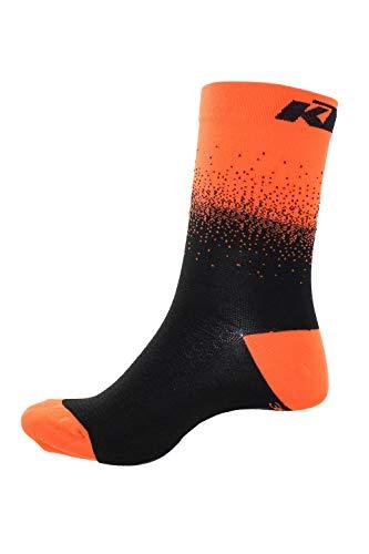 KTM Factory Team Socken Flow Orange/Schwarz 44-47