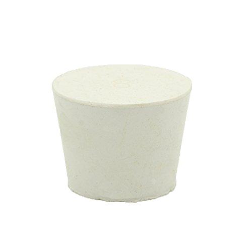 Tapón de goma cónico AngelaKerry n.°10 y 7. Tapón de laboratorio, tapones blancos para frasco o tubo de ensayo, #8