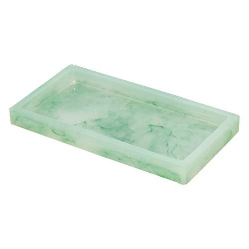 MSYG Bandeja de resina con alfombrilla antideslizante multifuncional organizador de joyas para cosméticos exquisita decoración del hogar para baño o cocina