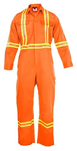 Flammenbeständiger Overall, hohe Sichtbarkeit, 88 % C/12 % N, CO881207FSFRH-1-ORS, Orange, Small
